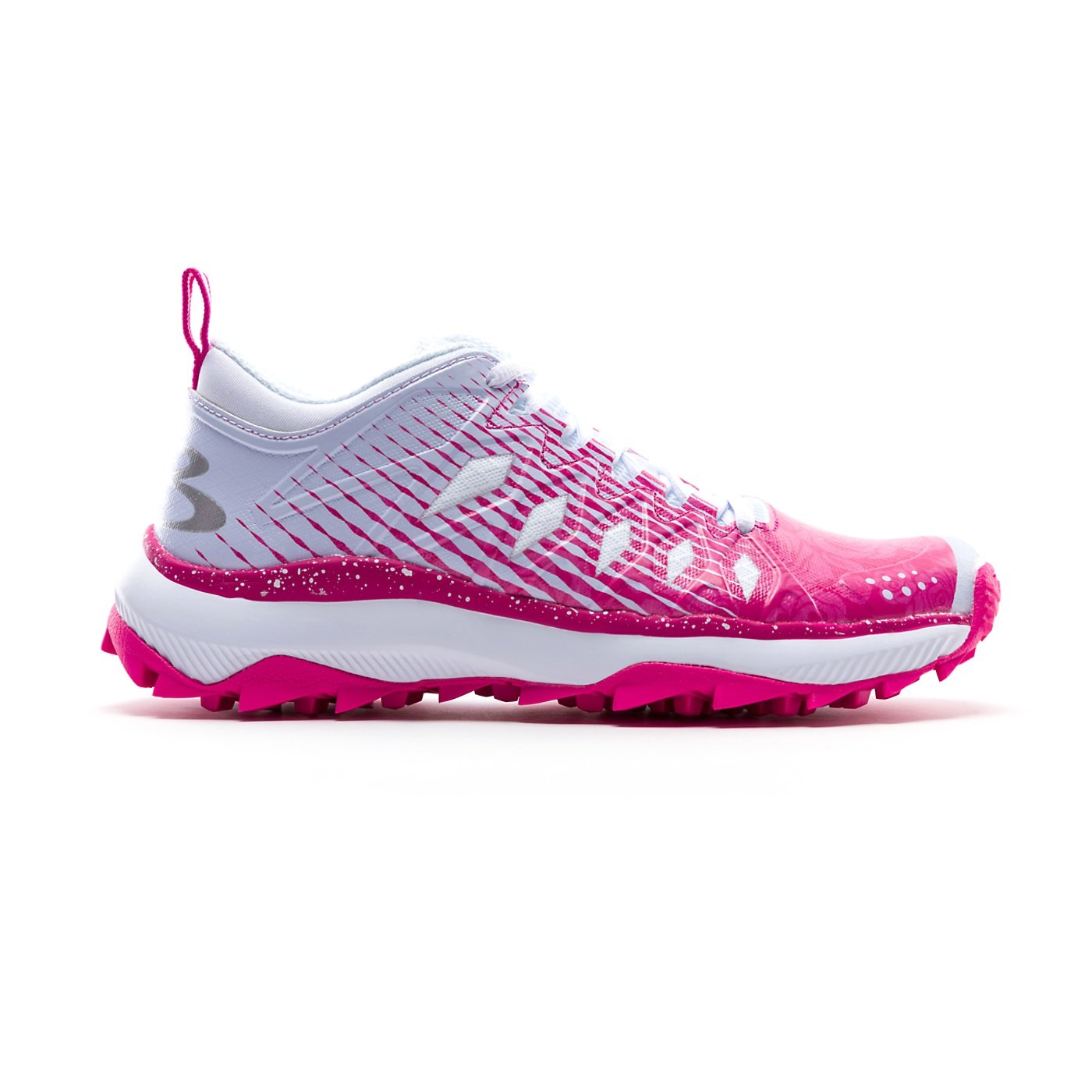 Boombah Women's Squadron Turf Shoes - 14 Color Options - Multiple Sizes B07CRRT1RQ 6|White/Pink