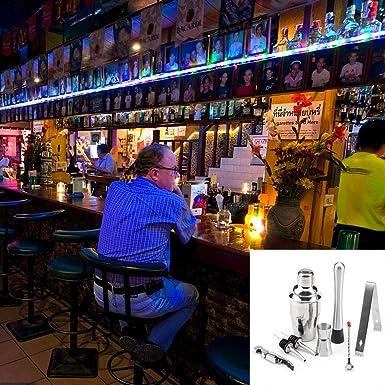 8 piezas de coctelería Set Bartender Kit, barra de acero ...