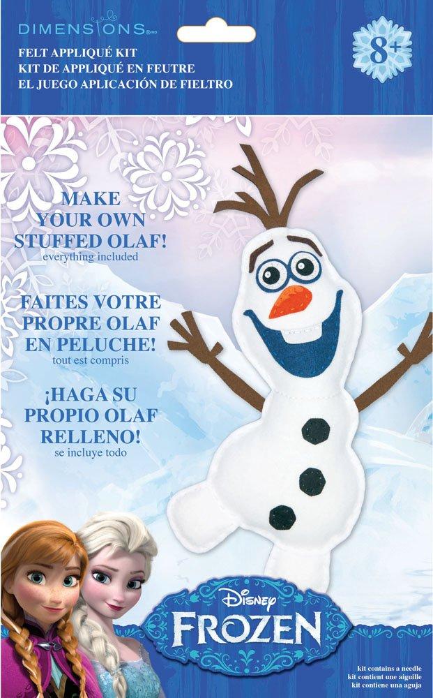 Amazon.com: Dimensions Needlecrafts 72-74479 Disney Frozen Olaf Felt Applique Kit