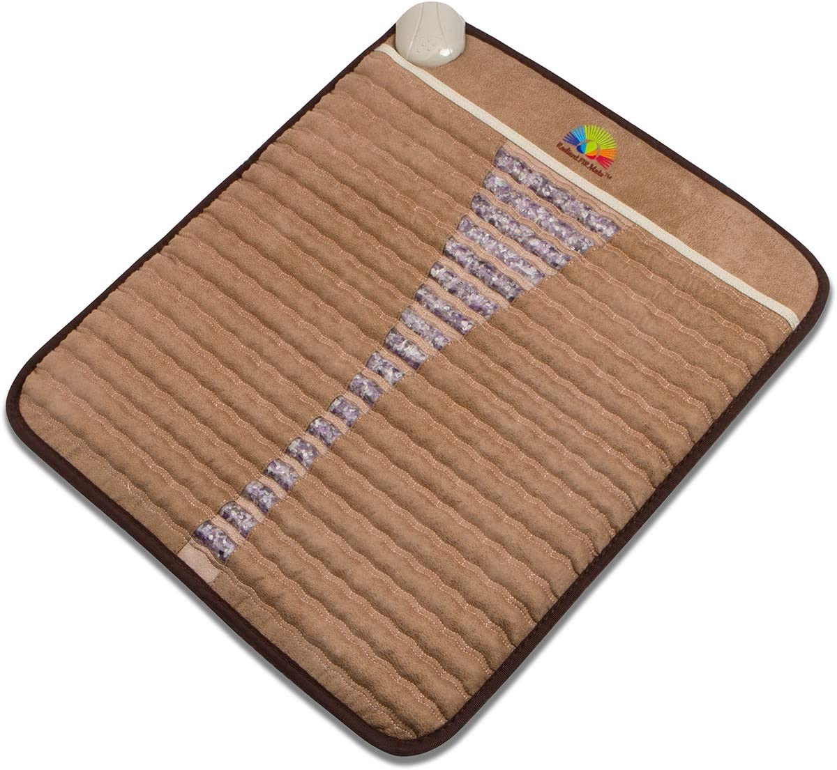 "Radiant Far Infrared Small Mini Mat Pad with 100% Amethyst Crystal Radiant Heat Therapy (20"" X 23"") FDA Registered Manuf - Adjustable Temp Settings - Flexible."