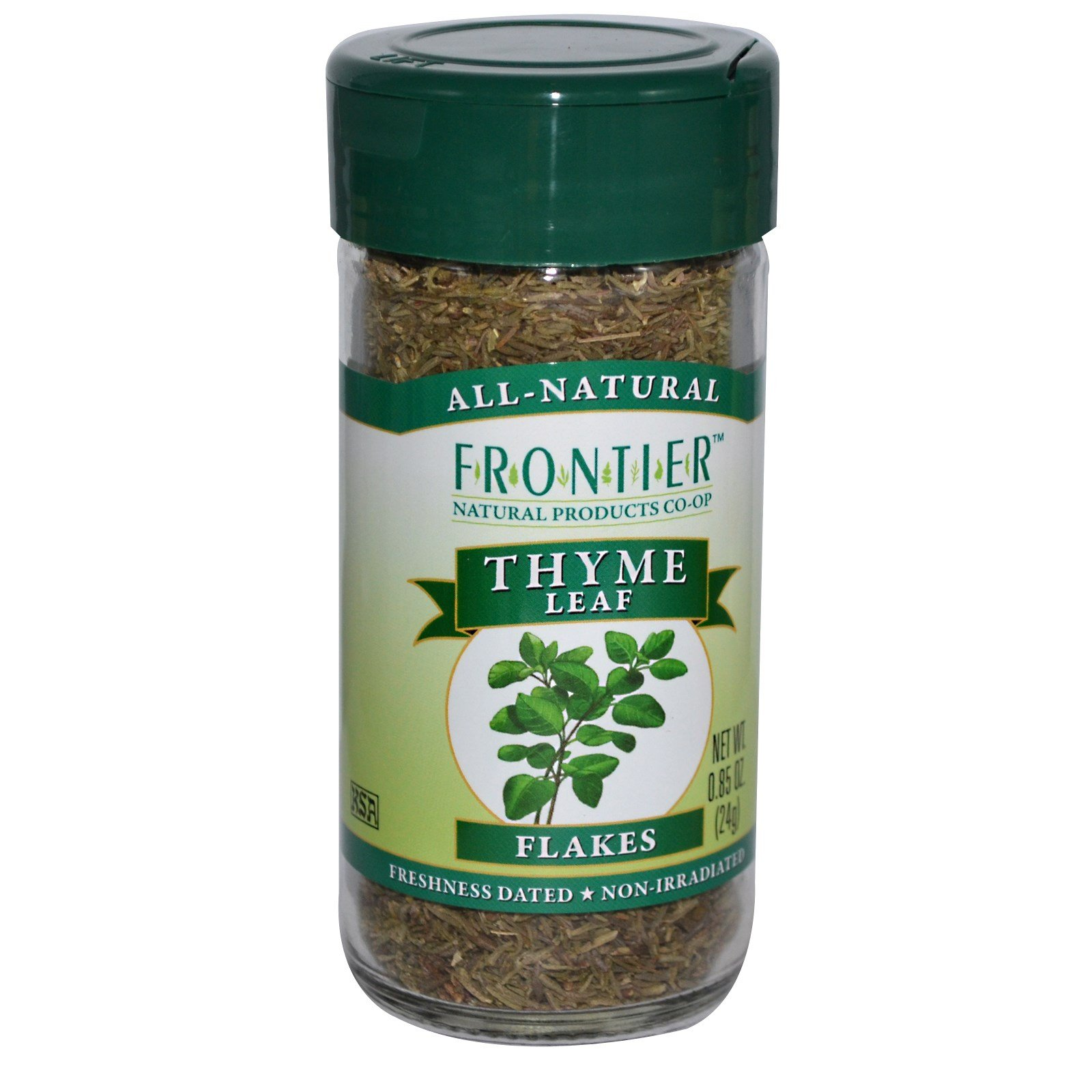 Frontier Natural Products, Thyme Leaf Flakes, 0.85 oz (24 g) - 2pc