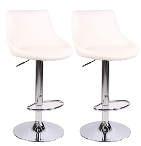 Peachy Millhouse Modern Bar Stools Set Leatherette Exterior Adjustable Swivel Gas Lift Chrome Footrest And Base For Breakfast Bar Counter Kitchen And Beatyapartments Chair Design Images Beatyapartmentscom