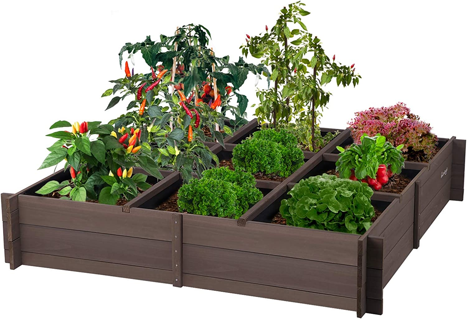 Planter Box Raised Garden Bed for Vegetables ,Flower Bed Outdoor with Inner Lining 51.6