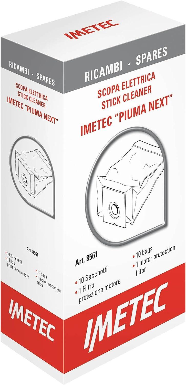 Imetec 8561 Kit Ricambi, 10 Sacchetti, 1 Filtro Motore per Scopa Elettrica Imetec Piuma Next e Imetec Piuma Force++
