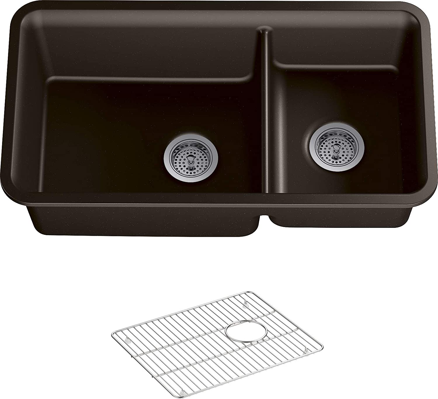 KOHLER 8204-CM2 Cairn Kitchen Sink, Matte Brown, 36