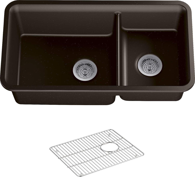 KOHLER 8204-CM2 Cairn Kitchen Sink, Matte Brown, 36