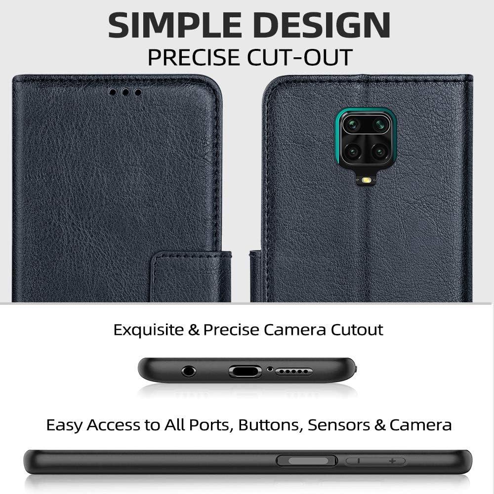 Blau Standfunktion Premium Leder Tasche Flipcase Ganbary Handyh/ülle f/ür Xiaomi Redmi Note 9s//9 Pro H/ülle f/ür Note 9s Schutzh/ülle Kartenschlitzen