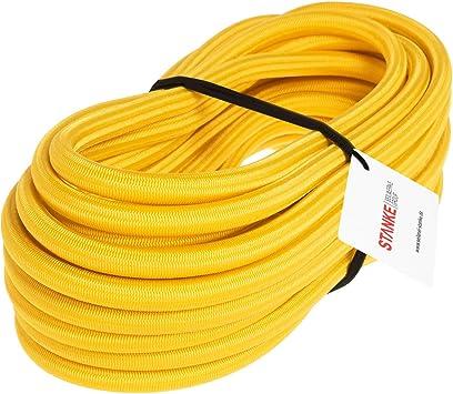 Gummileine Spannseil Planenseil Gummischnur Seilwerk STANKE Gummiseil Expanderseil Schwarz 6 mm 25 Meter