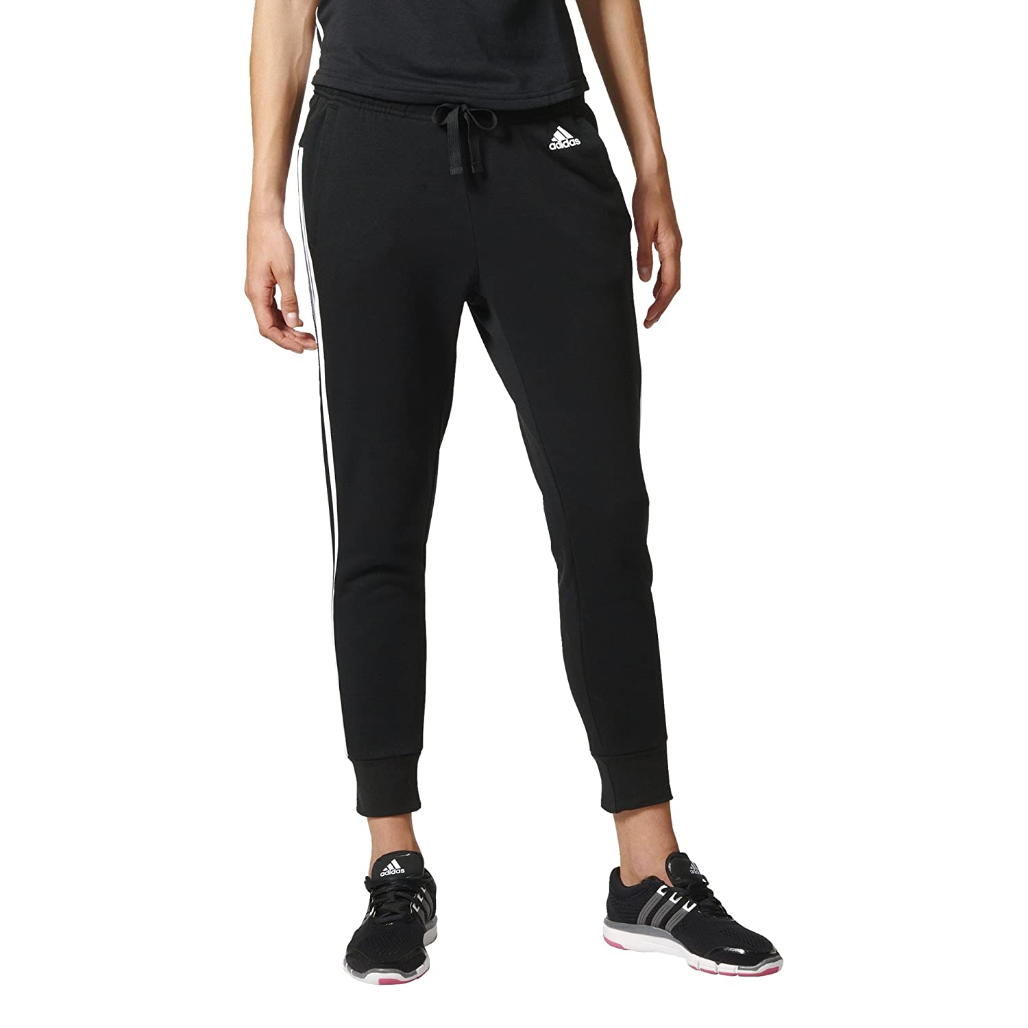 adidas Damen Essentials 3-Stripes Tapered Hose