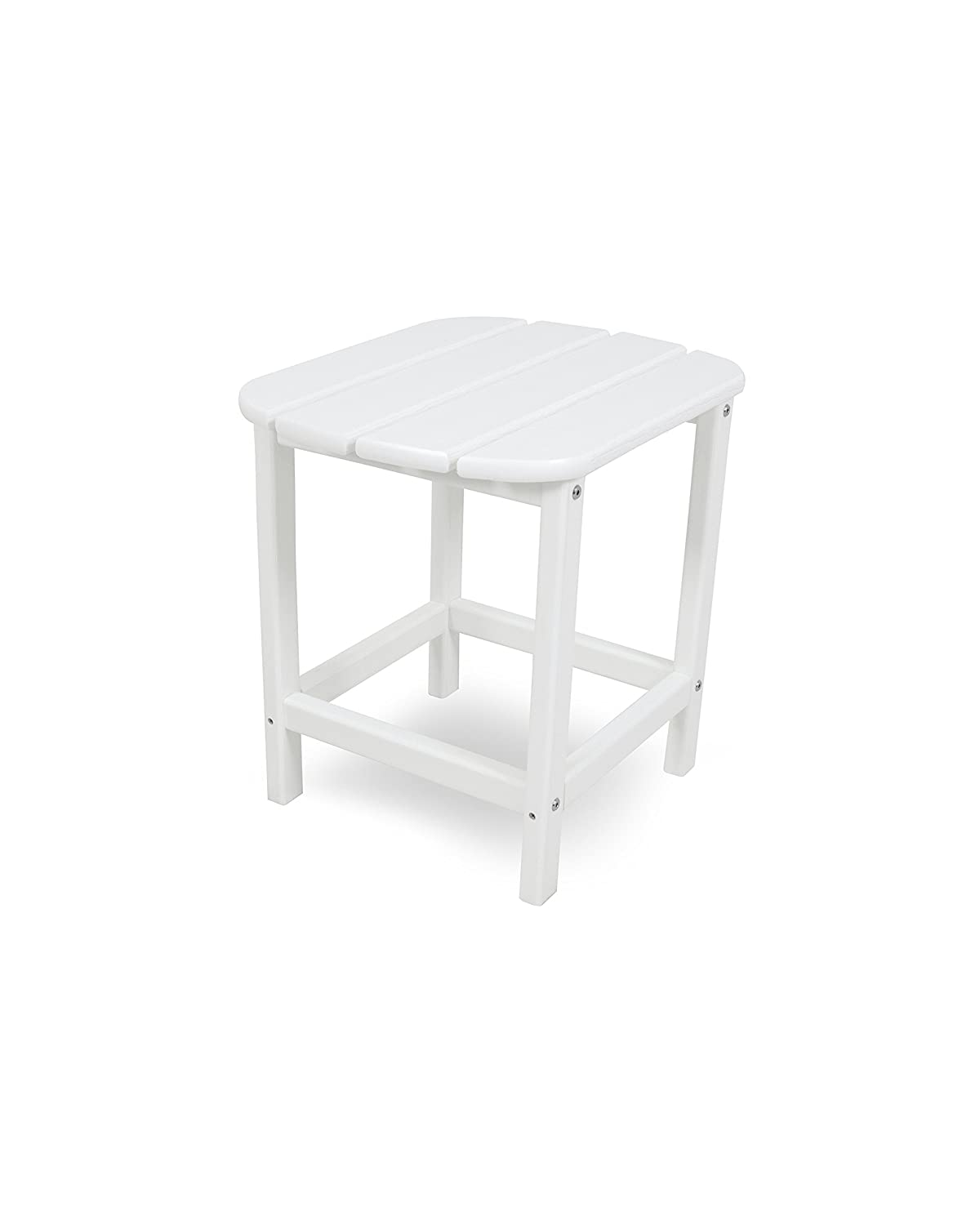 POLYWOOD SBT18WH South Beach 18 Outdoor Side Table, White