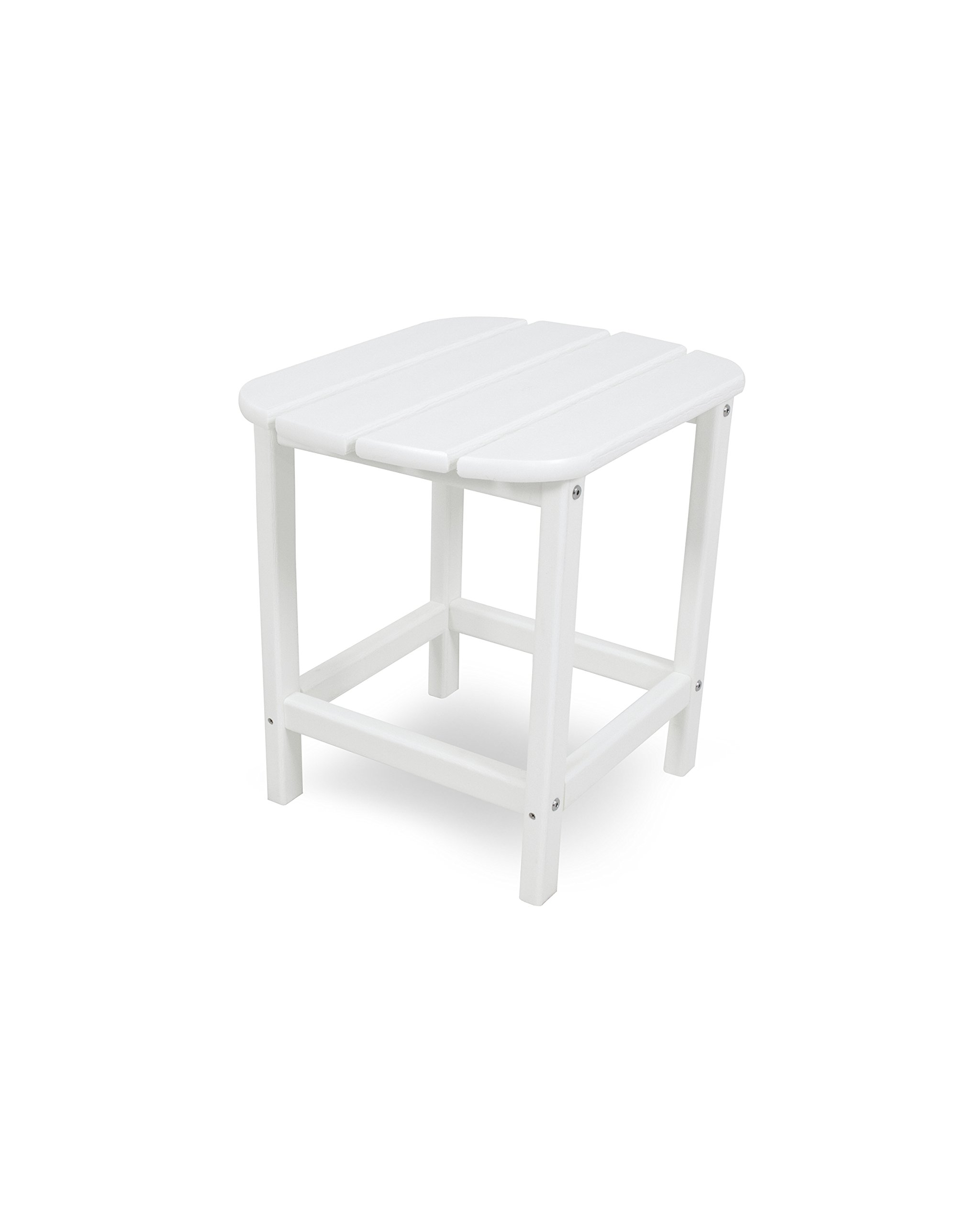 POLYWOOD SBT18WH South Beach 18'' Outdoor Side Table, White by POLYWOOD