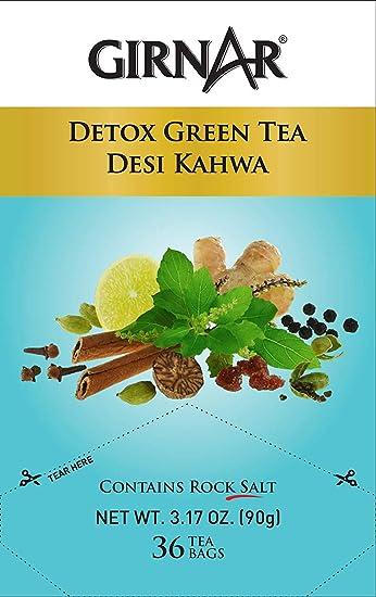 Girnar Green Tea, Desi Kahwa, 36 Tea Bags (36 Tea Bag (Pack of 4