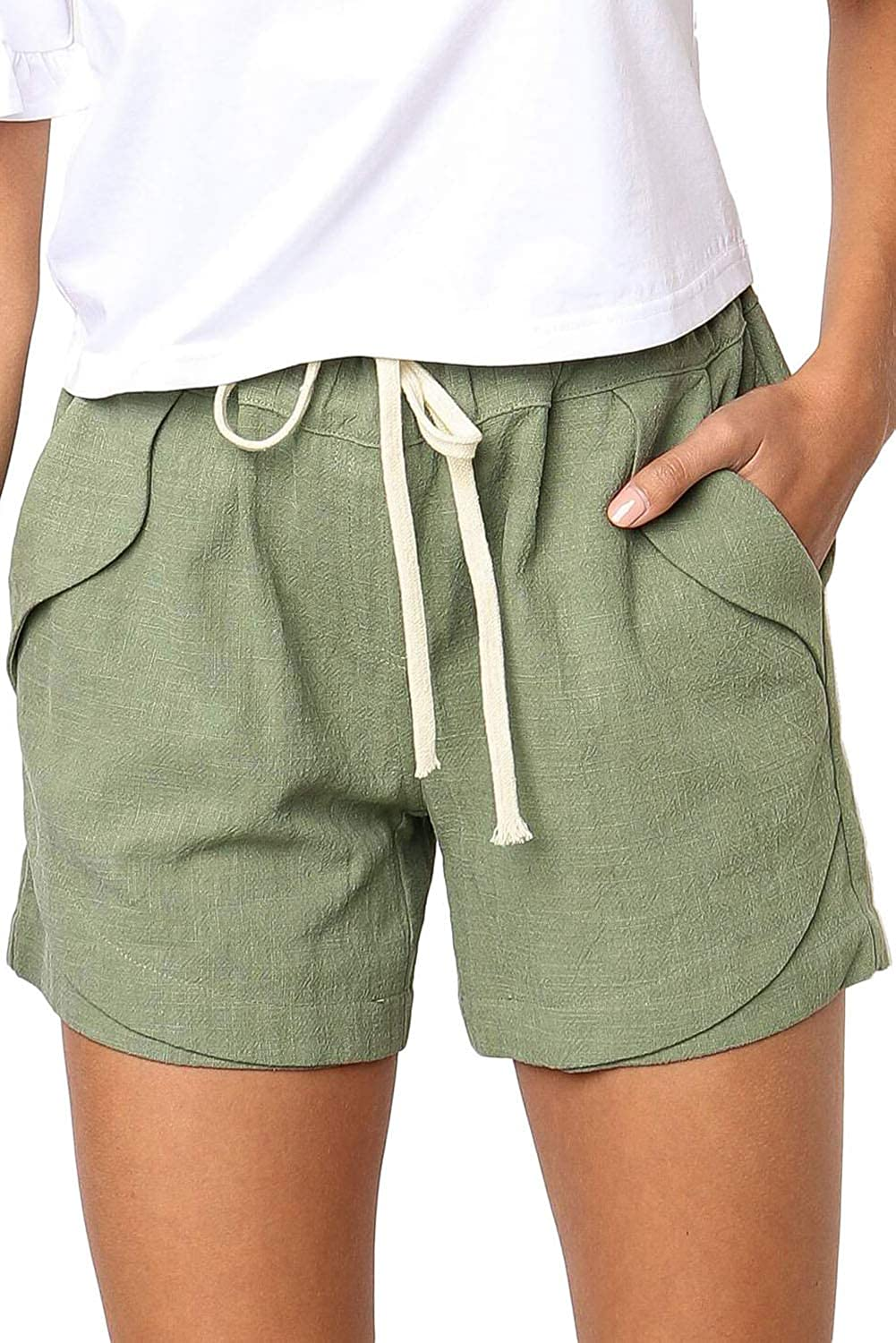 SWEET POISON Womens Harem Shorts with Pockets Casual Baggy Wide Leg Comfy Short