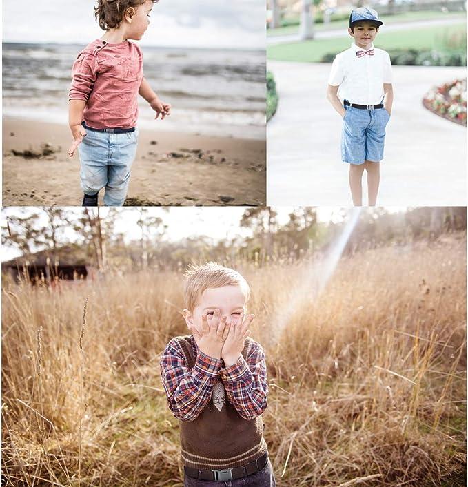 Garçons Enfants Magnétique Boucle Ceinture Stretch Réglable Élastique Toile enfants ceintures