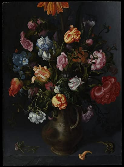 Amazon Painting A Vase With Flowers Artist Jacob Vosmaer