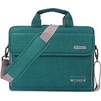BRINCH Maletín para Ordenadores portátiles maletín Tejido Oxford Bolso de Hombro Unisex para Ordenadores de 15 Pulgadas Notebook/MacBook/Chromebook con Tiras para llevarlo al Hombro y Bolsillos,Verde