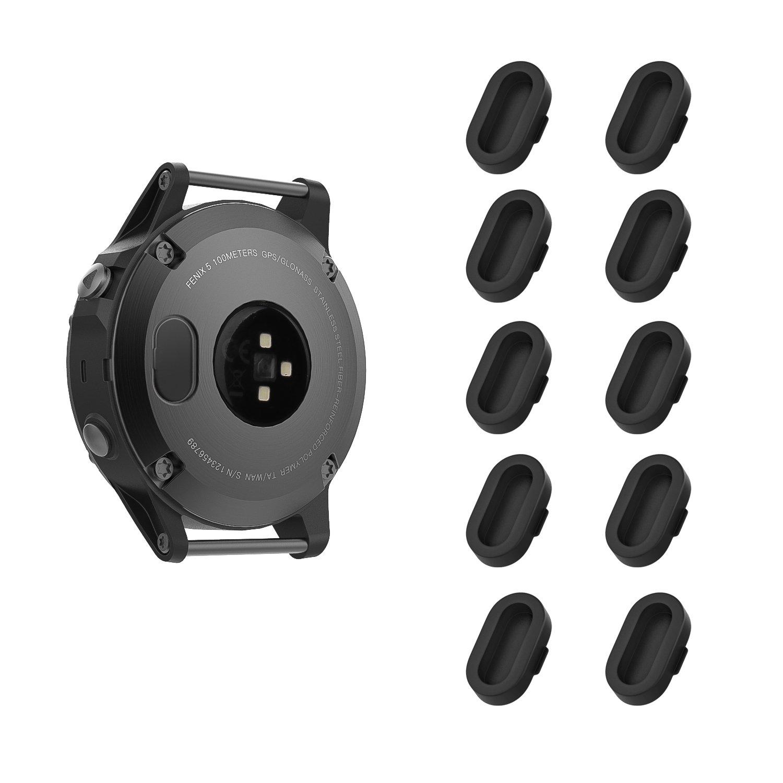 MoKo Dust Plug Compatible with Garmin Fenix 5/5S/5X/6/6S/6X/6 Pro/6S Pro/6X Pro/Forerunner 245/935/945/Vivoactive 4/4S…