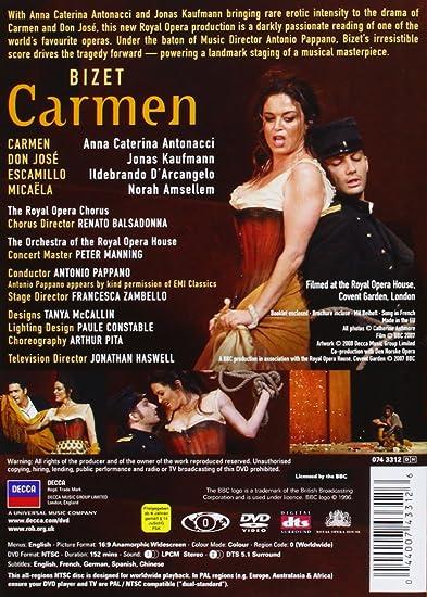 Amazon com: Bizet: Carmen: Anna Caterina Antonacci, Jonas