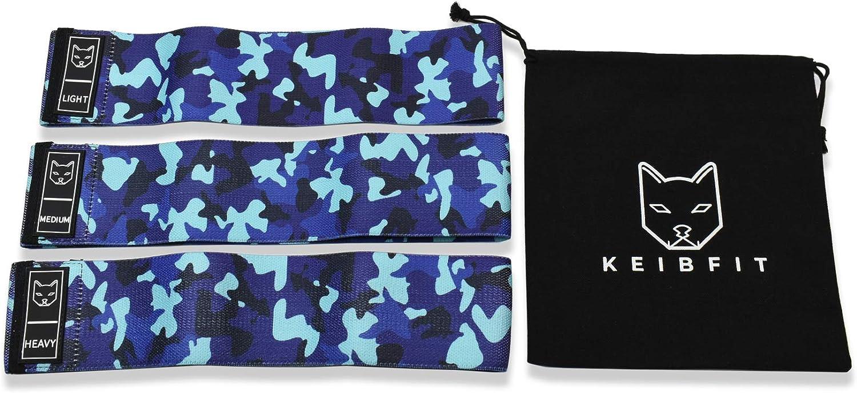 KeibFit Blue Camo Pattern Glute Resistance Bands Kit