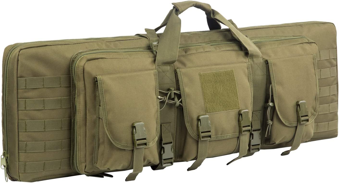 Warriors Product 38 42 Inch Double Long Rifle Gun Case Bag Outdoor Tactical Carbine Cases Water Dust Resistant Fireproof for Hunting Shooting