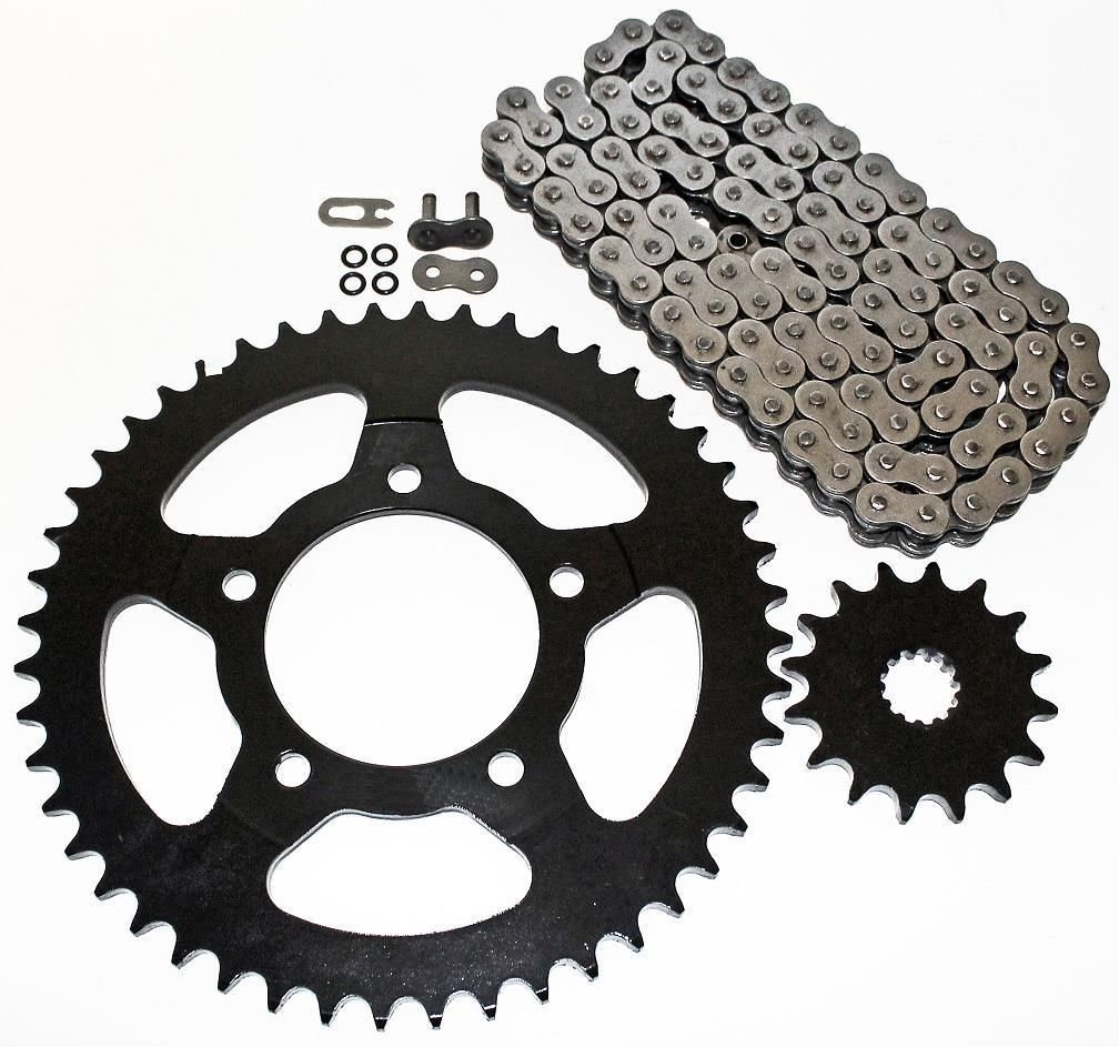 2003-2010 Suzuki SV650 ABS O Ring Chain and Sprocket 15//45 114L