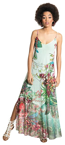 Linaria, Vestido Casual para Mujer, Verde (Green), Large (