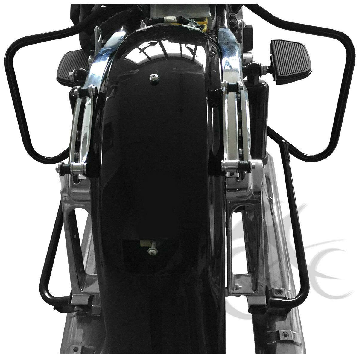 TCT-MT Saddlebag Bracket Guard Crash Bar Support fit For Harley Road King FLHR Street glide FLHX Special FLHXS Ultra Limited FLHTK CVO FLHTKSE 2014-2020; Road Glide FLTRX FLTRXS FLHXSE 2015-2020 Black