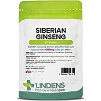 Lindens Compresse di ginseng siberiano da 1000 mg   100 Confezione   Potente estratto di Eleutherococcus senticosus in una pratica compressa giornaliera