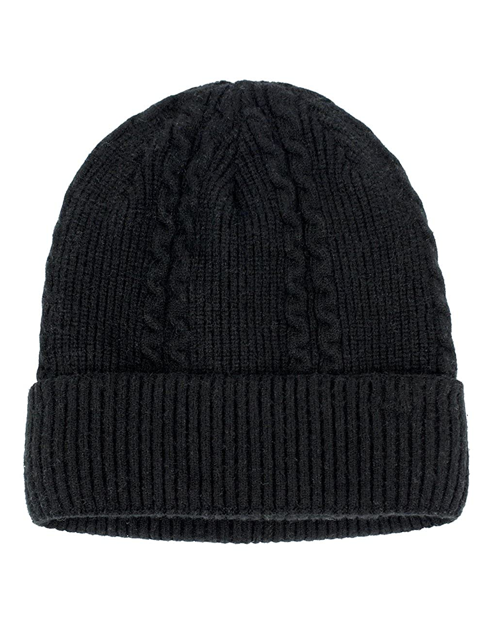 Dahlia Men s Angora Cable Knit Beanie for Larger Head 7da3b89ff58
