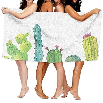Toallas de playa unisex Cactus toallas de baño para adolescentes niñas adultos toalla de viaje piscina