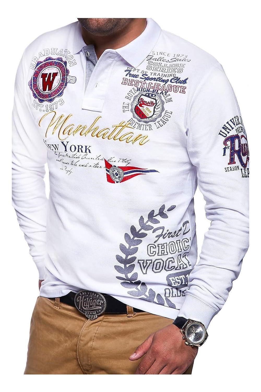 MT Styles Langarm Poloshirt Manhattan Polo MP-453
