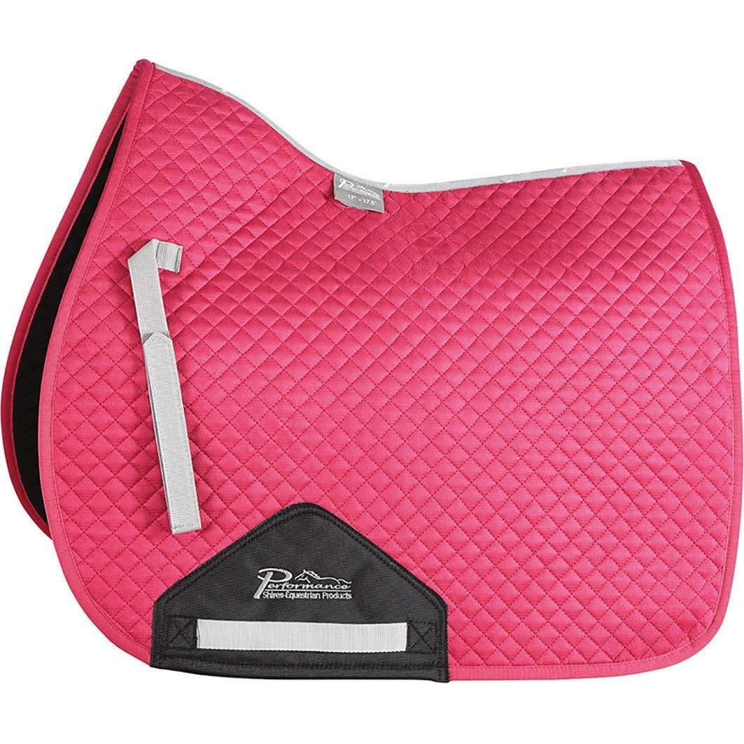 Shires Performance Suede Saddle Pad Pony Cob Raspberry
