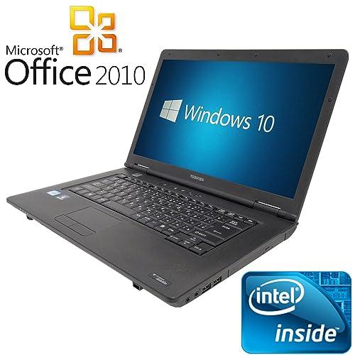 【Microsoft Office2010搭載】【Win 10 Pro搭載】TOSHIBA B450/第三世代Celeron Dualcore 2.1GHz/大画面15.6インチ/無線LAN搭載/中古ノートパソコン/ (メモリー2GB HDD 250GB)