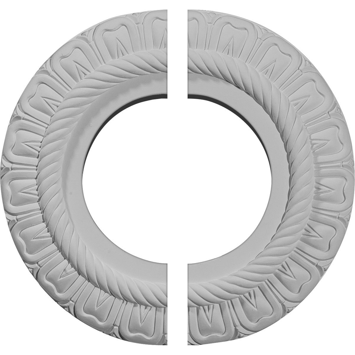 Ekena Millwork CM09CL2 9''OD x 4 1/2''ID x 1/2''P Claremont Ceiling Medallion, Fits Canopies up to 5-5/8'', 2 Piece