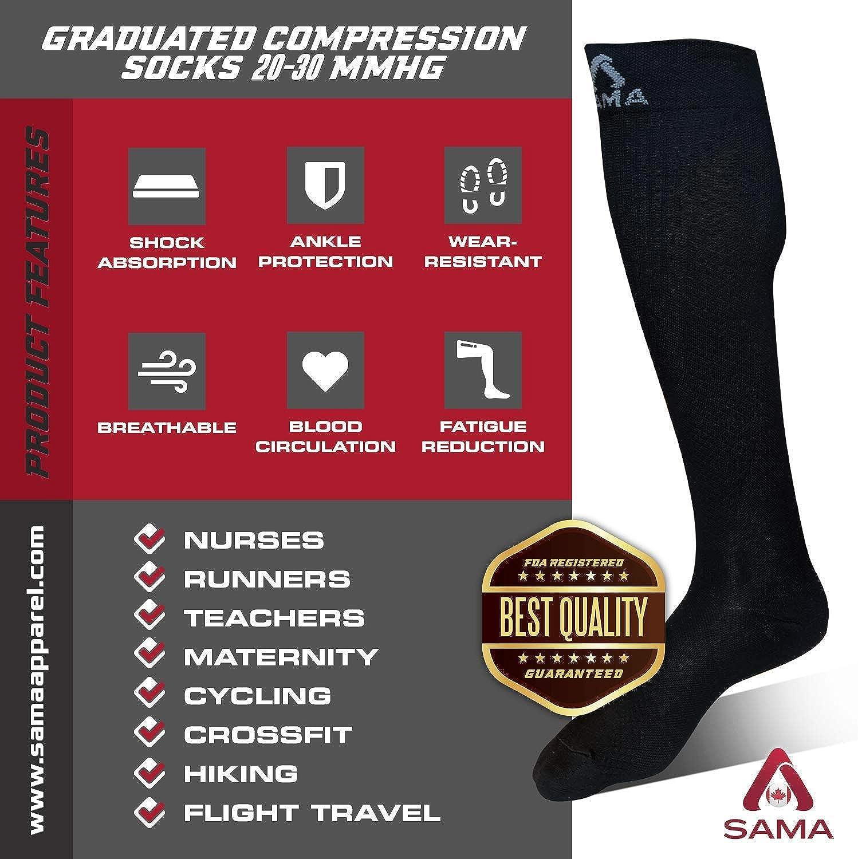 1 Pair FALARY Compression Socks Prevent Varicose Veins Sport Men Women Unisex 20-30 MmHg