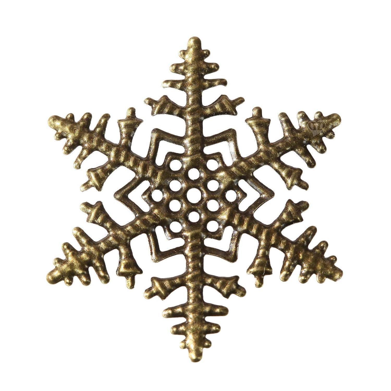 8 Schneeflocken in antik bronze