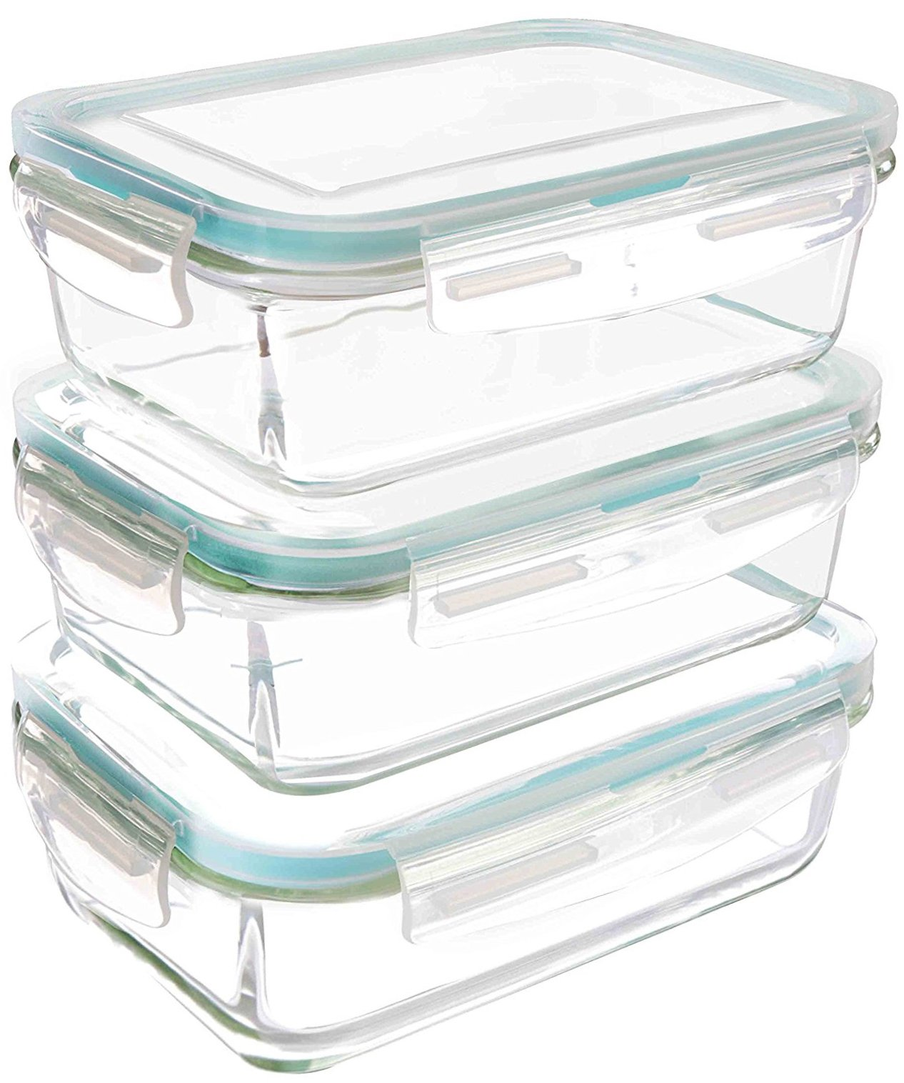 Utopia Kitchen Glass Containers for Food Storage with Lids (3-Pack, 28Oz) - Food Prep Airtight Containers with Lids - BPA Free and FDA Approved Containers by Utopia Kitchen