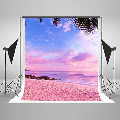 Kate 15 X 21 M Cotone Rosa Spiaggia Telo Mare Fondali Fotografia