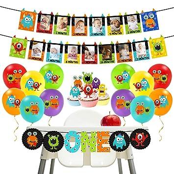 Kreatwow Monster 1st Birthday Decorations Kit - Monster Bash Photo ...