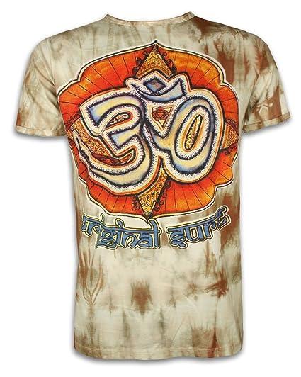 Sure Clothing Camiseta Hombre La Magia de los Om Talla ML XL Batik Natural Budismo Yoga Boho Hinduismo Namaste