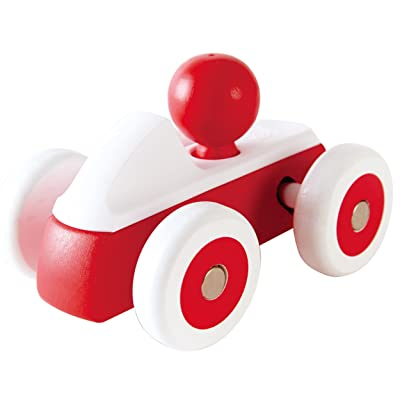 Hape Rolling Roadster Kid's Toy Car in Red: Toys & Games
