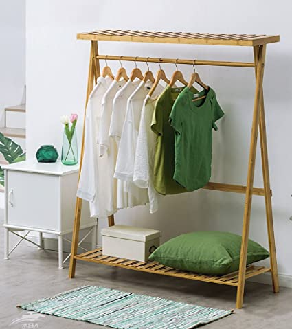 Coat rack Perchero de bambú Multifuncional para Colgar Ropa ...