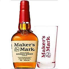 【ウイスキーの新商品】バーボンウイスキー メーカーズマーク 700ml ハイボールタンブラーセット