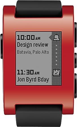 Amazon.com: Pebble Reloj inteligente para iPhone y Android ...