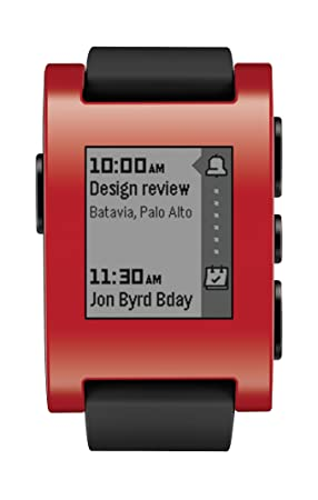 Pebble Smartwatch Montre Connectée Rouge