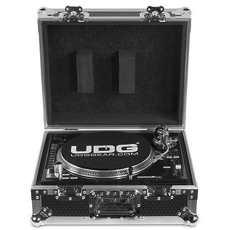 UDG FlightCase - Tocadiscos multiformato, color plateado: Amazon ...