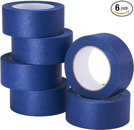 LICHAMP 10-Piece Blue Painters Tape 3//4 inch 550 Total Yards 0.75 inch x 55 Yards x 10 Rolls Blue Masking Tape Bulk Multi Pack