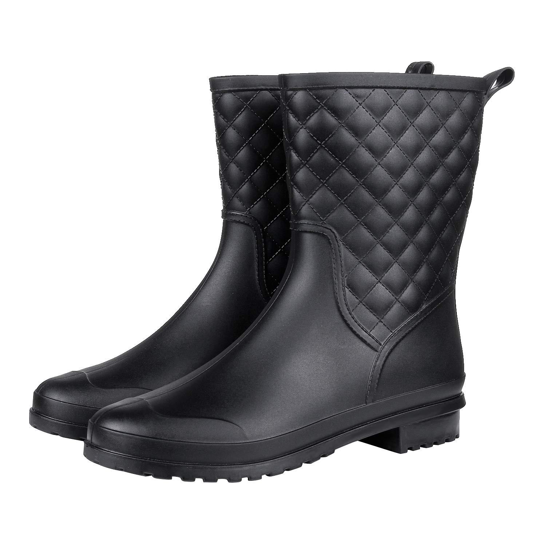 d83558c38a8 Womens Black Mid Calf Dress Boots - raveitsafe