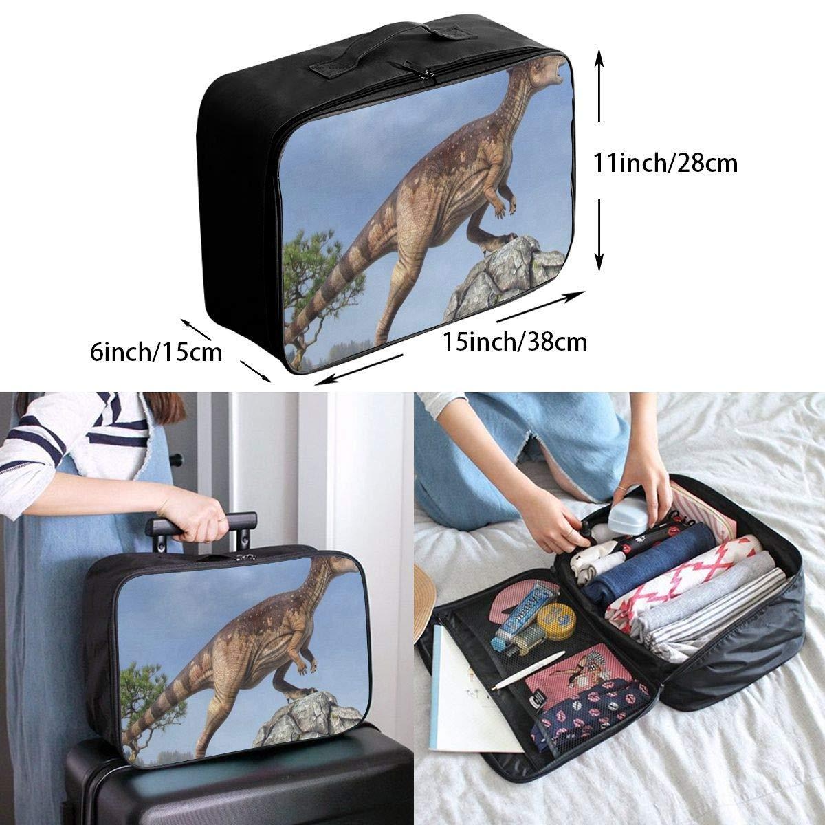 Travel Bags Dinosaur Tree Rocks Sky Portable Suitcase Trolley Handle Luggage Bag
