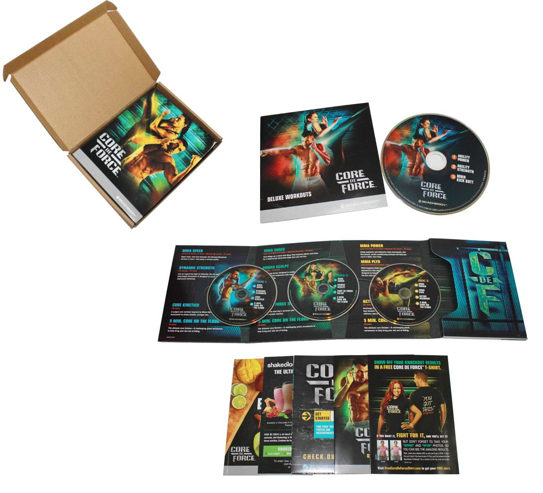 CORE DE FORCE Base Kit DVD workout program - MMA inspired 4 DVD - Eating Plan book and calendar included